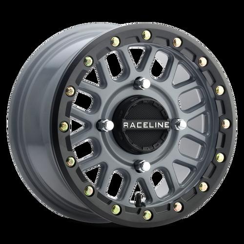Raceline A93 Podium Beadlock Wheels Stealth Grey