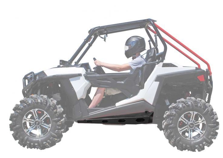 2013+ SuperATV Can-Am Maverick 1000 Heavy Duty Rock Slider Nerf Bars BLACK