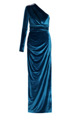 Aubrey One Sleeve Gown Teal