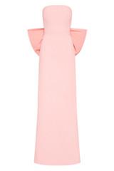 Rosette Strapless Gown Rose