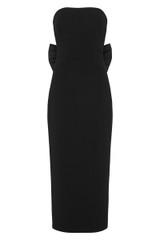 Amore Strapless Midi Dress Black