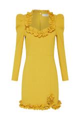 Baci Long Sleeve Mini Dress Sulphur