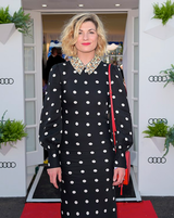 Outside the Tardis-Jodie Whittaker attends the Henley Festival
