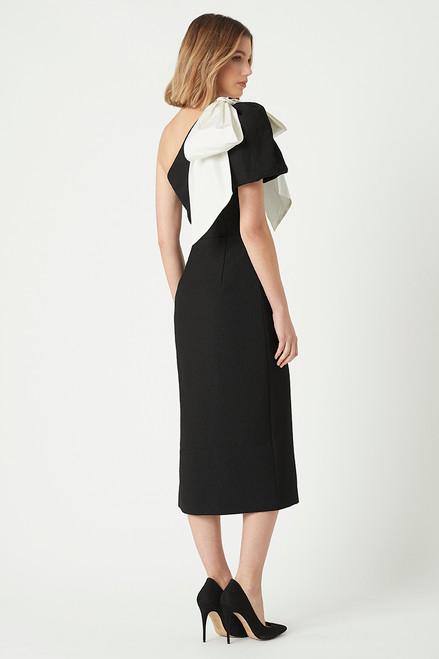 Lavanda One Shoulder Bow Midi Dress