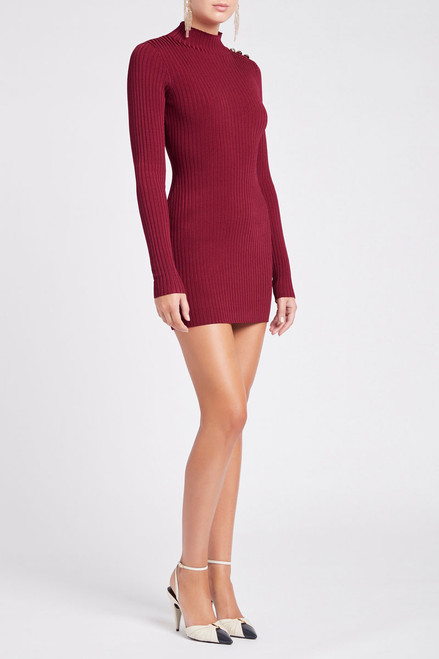 Danica Knit Mini Dress Magenta