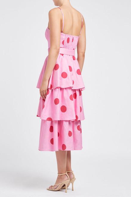Dalia Tiered Midi Dress