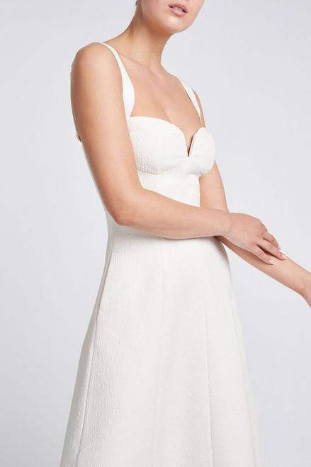 Calla V-Wire Midi Dress Ivory