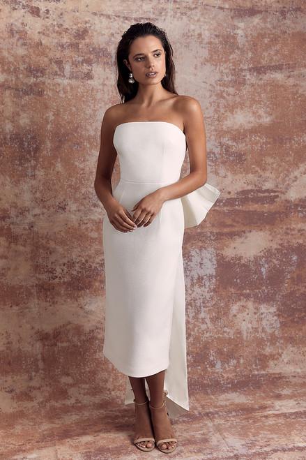 Amore Strapless Midi Dress Ivory