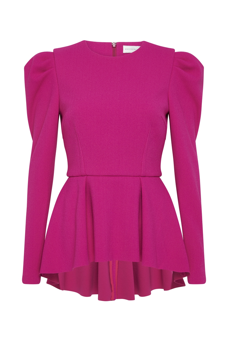 Rebecca Vallance Linings AMINA TOP BRIGHT PINK