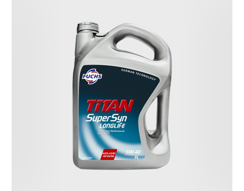 4153007 Fuchs Premium Engine Oil TITAN Supersyn LongLife SAE 5W-40 / 7L Bottle