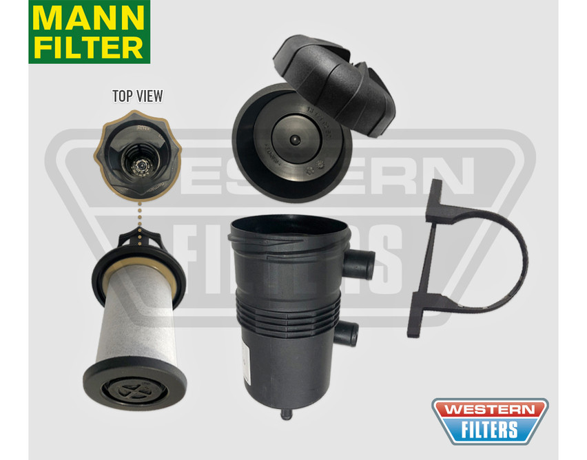 OS-PROV-15 Ford Ranger PX2 PX3 3 2L 2015-on TDCi Turbo Diesel 5Cyl P5AT DI  DOHC - ProVent Oil Catch Can Filter Kit