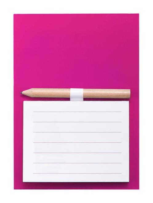 Yakari, magnet pentru frigider colorat, cu mini creion din lemn, blocnotes si posibilitate de personalizare corporate