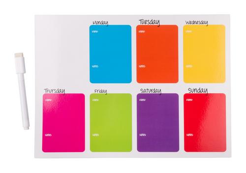 Nietix, tabela magnetica cu calendar saptamanal, marker magnetic, curatator si cu posibilitate de personalizare corporate