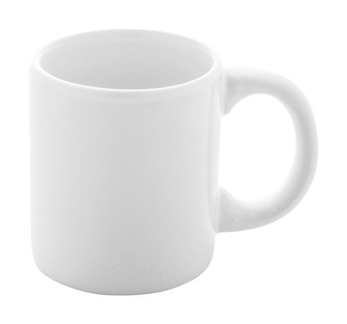 Lutin, cana espresso alba din ceramica, cu posibilitate de personalizare corporate