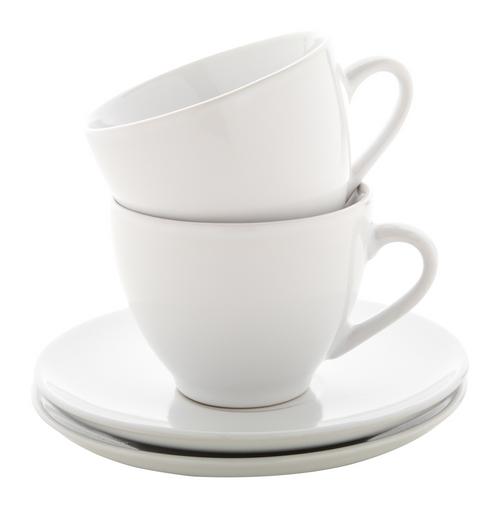 Typica, set cesti cappuccino, din ceramica, cu 2 cesti si farfurii si cu posibilitate de personalizare corporate