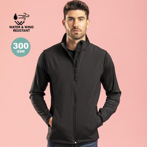 Jacheta softshell fabricata din material impermeabil cu posibiltate de personalizare corporate la goodie bags
