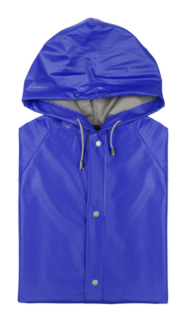 Raincoat with hood and strings, button closures and pockets - GoodieBags