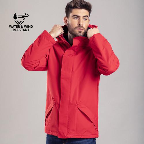 Jacheta parka impermeabila din poliester cu posibilitate de personalizare de la goodiebags.ro
