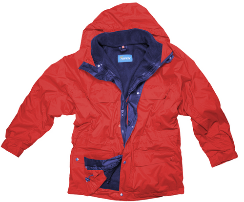 Jacheta 3 in 1 cu guler ridicat din materiale impermeabil, interior din polar, cu multe buzunare, 100% poliester si cu posibilitate de personalizare