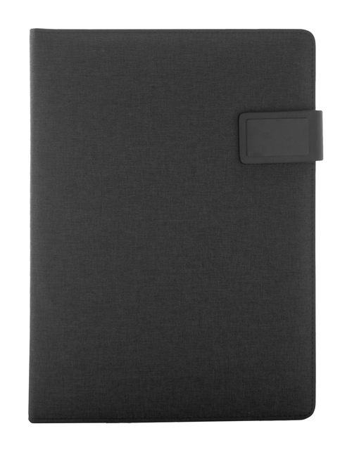 300D polyester document folder with 4000 mAh power bank | GoodieBags