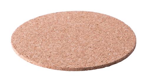 Brunex, suport pentru pahare confectionat din pluta naturala, forma rotunda cu posibilitate de personalizare corporate