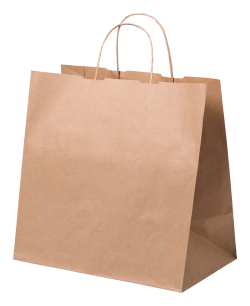Kraft paper shopping bag with twisted handle, 100 g/m2 | GoodieBags