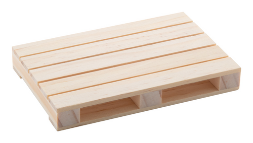 Palet, suport de pahare in forma de mini palet din lemn cu posibilitate de personalizare corporate