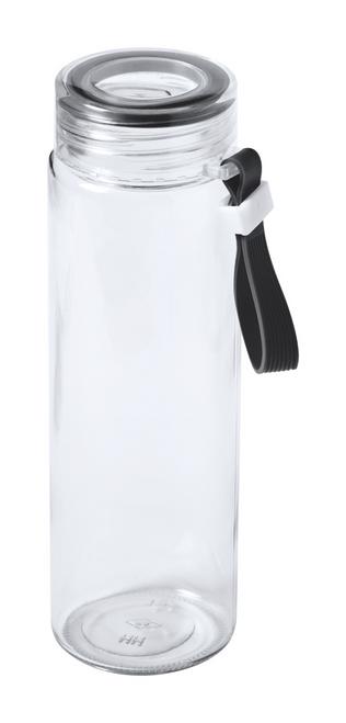 Helux, stica sport din sticla, cu curea pentru transport si cu posibilitate de personalizare corporate