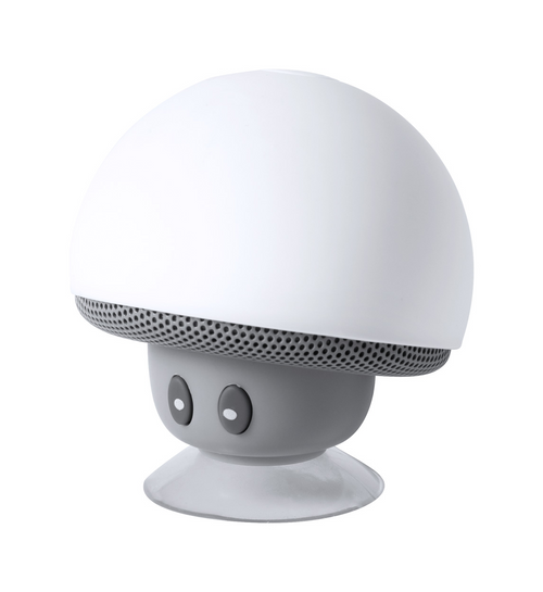 Mushroom shaped mini Bluetooth speaker, hands-free call function and rechargeable battery. Including USB charger cable.   GoodieBags