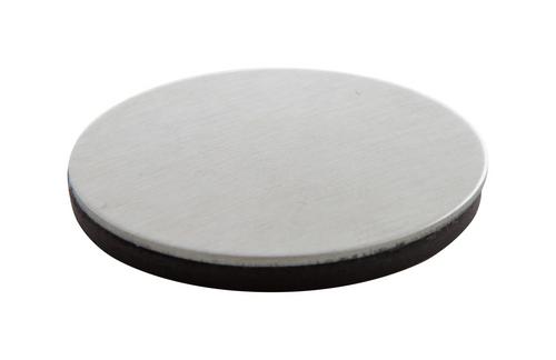 SteelMag, magnet de frigider rotund, cu suprafata din otel inoxidabil si cu posibilitate de personalizare corporate