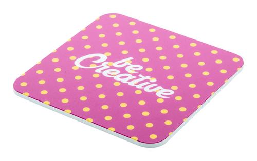 CreaCoast, suport pahare confectionat din spuma PVC, format patrat, cu posibilitate de personalizare color