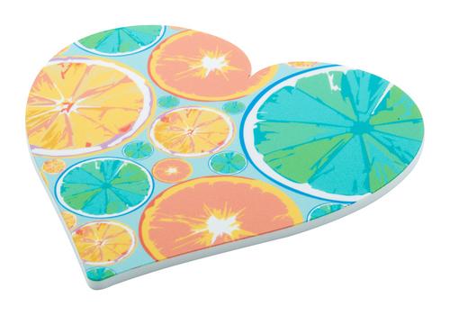 CreaCoast, suport pahare confectionat din spuma PVC, forma inima, cu posibilitate de personalizare color