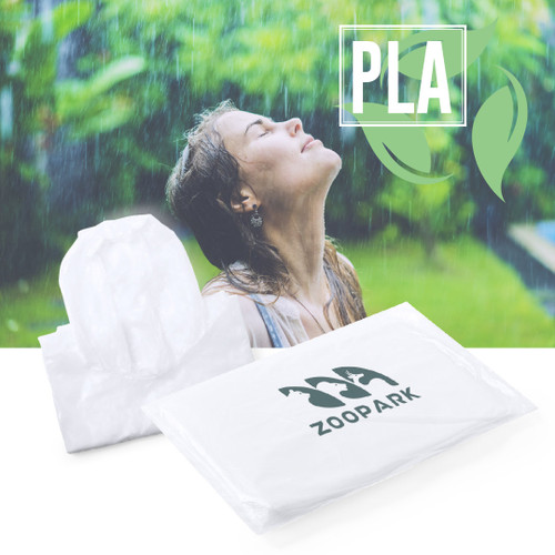 100% biodegradable, transparent PLA poncho _GoodieBags