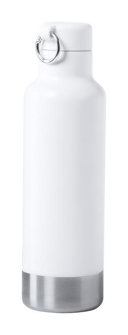 Pernal, termos sport alb de capacitate 750 ml, din otel inoxidabil, cu capac, inel de transport si posibilitate de personalizare corporate