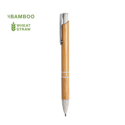 ballpoint pen  made of bamboo, ecological wheat straw and ABS - goodiebags