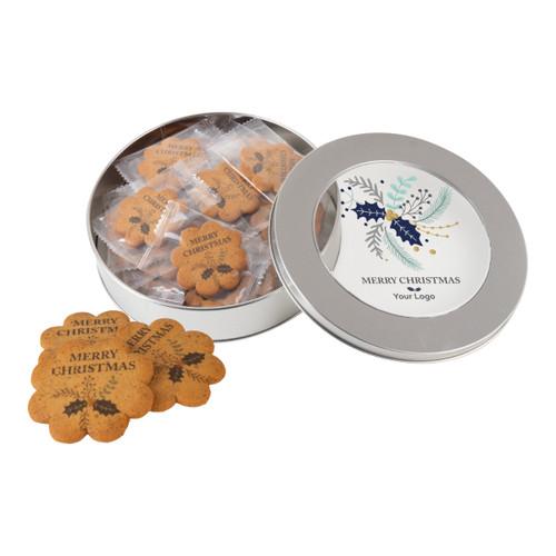 Logo cookie tin