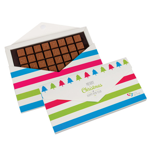 Choco text 4 lines in envelope