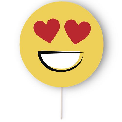 Emoty, evantai de hartie si lemn cu design emoticon si posibilitate de personalizare corporate