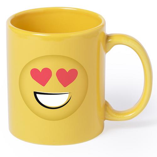 Ashley, cana din ceramica cu design emoticon, capacitate 400 ml, cu posibilitate de personalizare corporate
