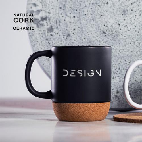 Bokun, cana ceramica personalizata, cu baza de pluta naturala