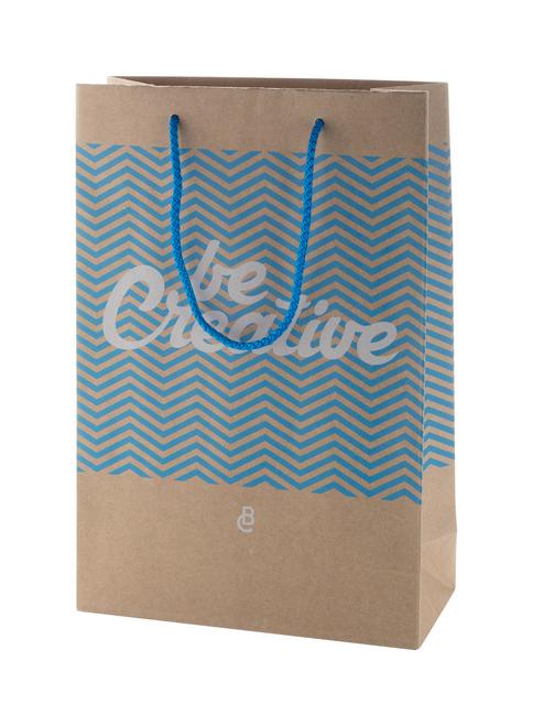 Custom made paper shopping bag with polypropylene handles