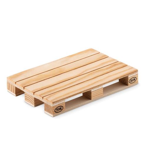 Paly, suport pahare sub forma de mini palet EUR, confectionat din lemn de pin cu posibilitate de personalizare corporate