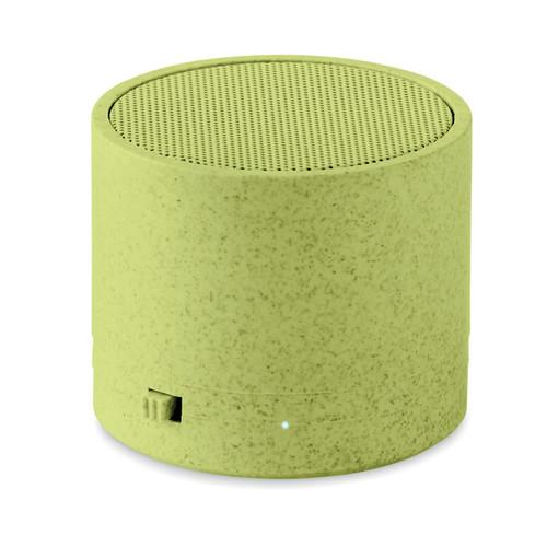Round Bass+ - 3W speaker in wheat straw/ABS