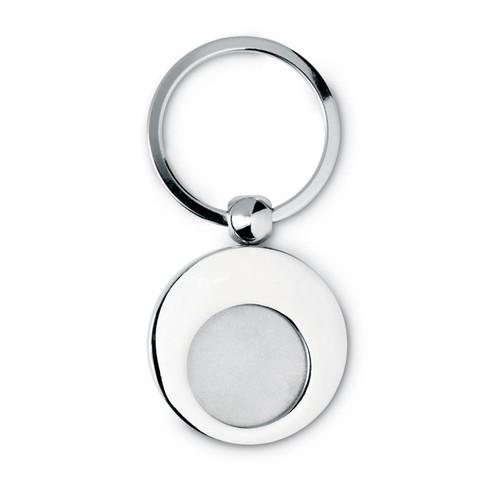 Euring, breloc metalic cu jeton pentru carucior de cumparaturi, cu posibilitate de personalizare corporate