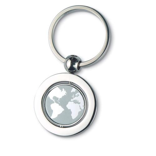 Globy, breloc metalic cu decor interior glob pamantesc, cu posibilitate de personalizare corporate