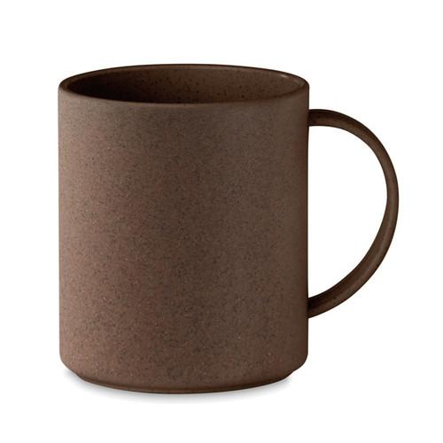 Single wall mug made of 50% coffee husk and 50% PP. Capacity: 300 ml.