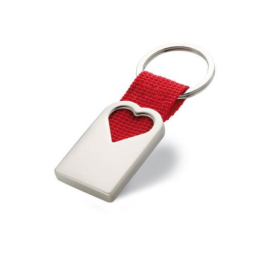Bonheur, breloc metalic in forma de inima, cu posibilitate de personalizare corporate, ideal pentru cadouri personalizate B2B