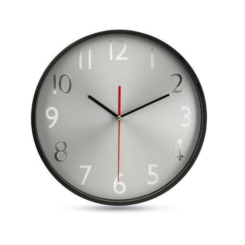 Rondo - Wall clock w silver background