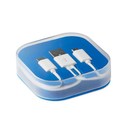 Cablu de încărcare cu 2 conectori micro USB și Tip C 1A cu posibilitate de personalizare goodie bags