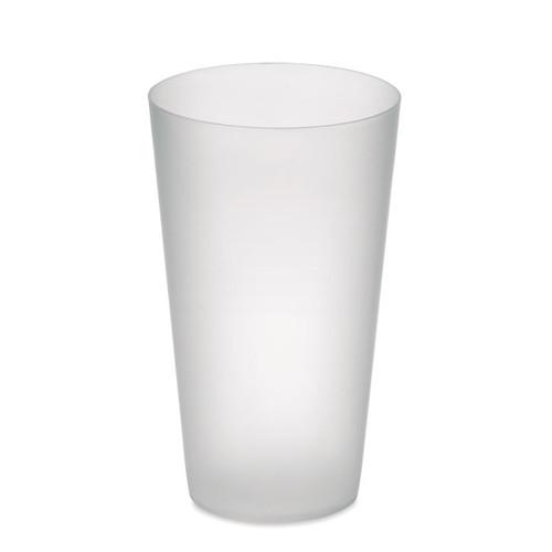 Festa Cup, pahar PP reutilizabil, cu finisaj mat si cu capacitate de personalizare corporate